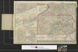 Primary view of object titled 'County map of the state of Pennsylvania.'.