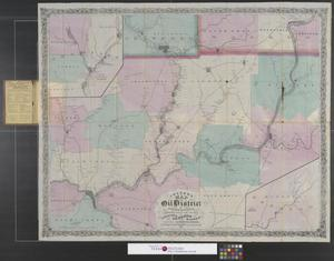 Primary view of object titled 'Colton's map of the oil district of Pennsylvania : comprising part of the counties of Crawford, Venango and Warren.'.
