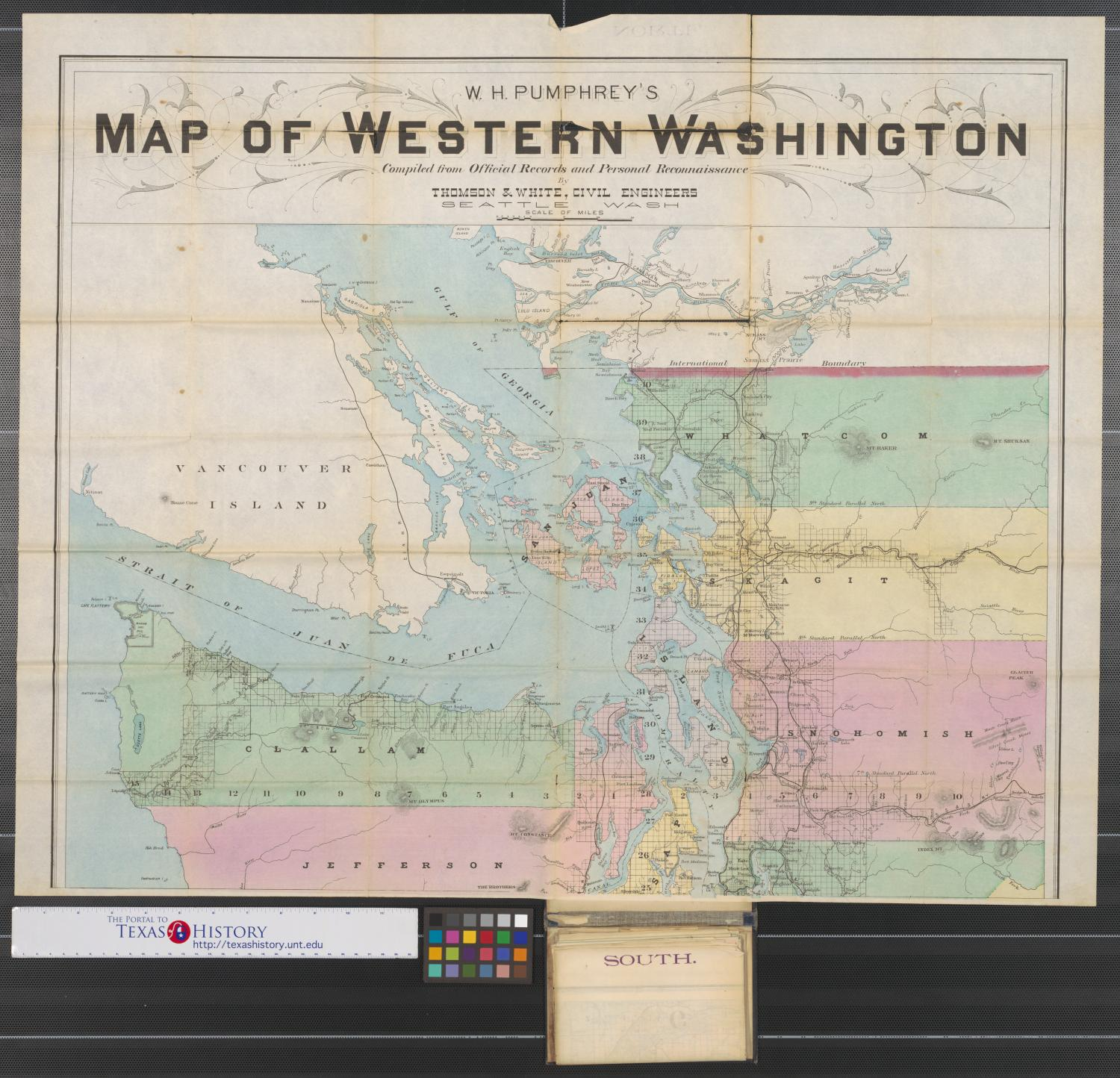 W.H. Pumphrey\'s map of western Washington : compiled from official ...