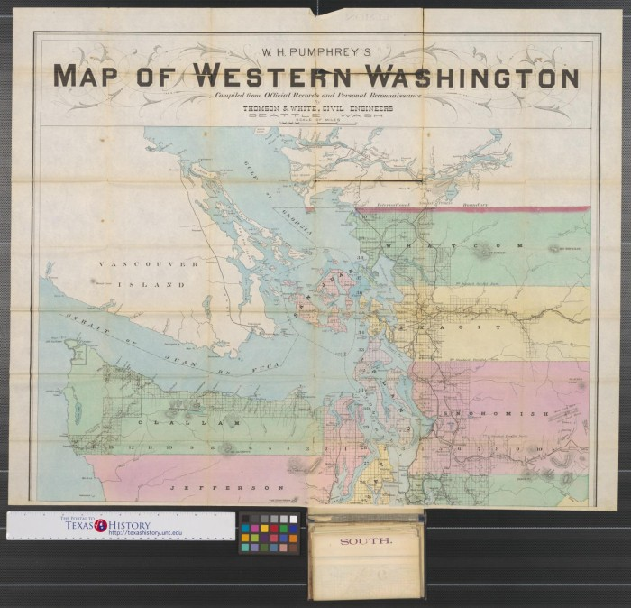 W.H. Pumphrey\'s map of western Washington : compiled from ...