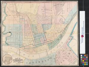 Primary view of object titled 'Map of Cincinnati, Covington and Newport.'.