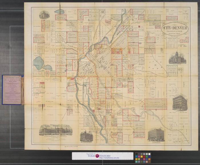 The City of Denver. - The Portal to Texas History Denver City Texas Map on