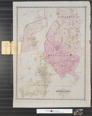 Primary view of object titled 'Map of Newport & vicinity or Rhode Island.'.