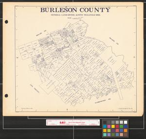 Primary view of object titled 'Burleson County.'.