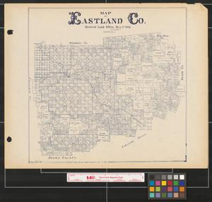 Primary view of object titled 'Map of Eastland Co.'.
