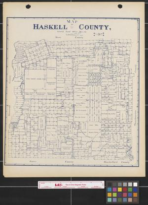 Primary view of object titled 'Map of Haskell County.'.