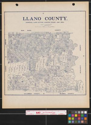 Primary view of object titled 'Llano County.'.