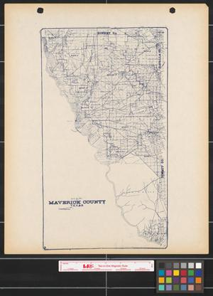 Primary view of object titled 'Map of Maverick County, Texas.'.