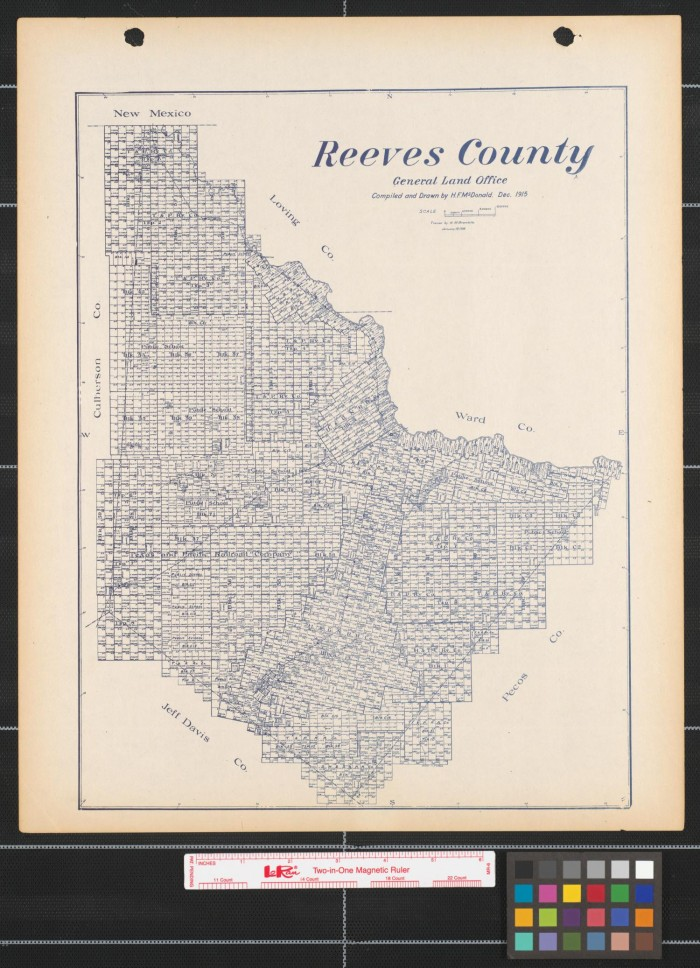 Reeves County The Portal To Texas History