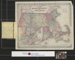 Primary view of object titled 'Colton's Massachusetts and Rhode Island.'.
