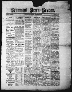 Primary view of object titled 'Beaumont News-Beacon (Beaumont, Tex.), Vol. 9, No. 16, Ed. 1 Saturday, June 7, 1873'.