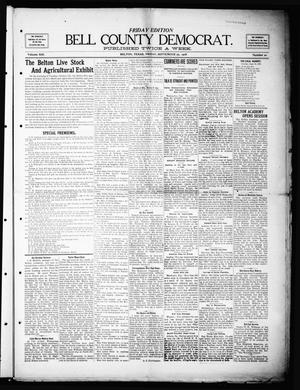 Primary view of object titled 'Bell County Democrat (Belton, Tex.), Vol. 13, No. 20, Ed. 1 Friday, September 25, 1908'.