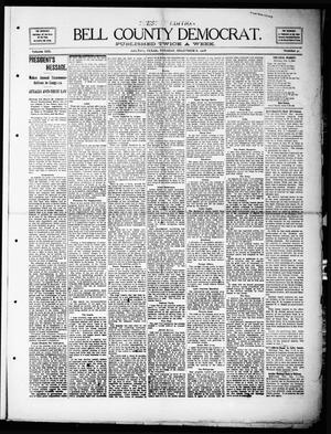 Primary view of object titled 'Bell County Democrat (Belton, Tex.), Vol. 13, No. 41, Ed. 1 Tuesday, December 8, 1908'.