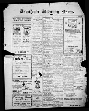 Primary view of object titled 'Brenham Evening Press. (Brenham, Tex.), Vol. 11, No. 320, Ed. 1 Wednesday, May 10, 1905'.