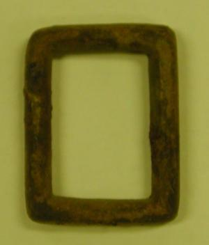 Cartridge case buckle,  small rectangular buckle piece.
