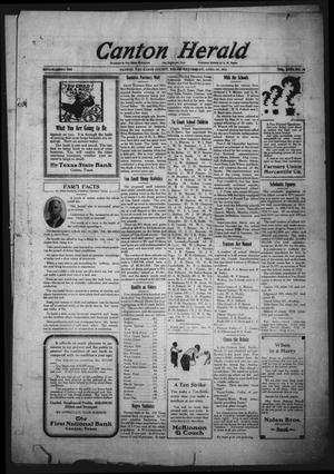 Primary view of object titled 'Canton Herald (Canton, Tex.), Vol. 31, No. 44, Ed. 1 Wednesday, April 30, 1913'.
