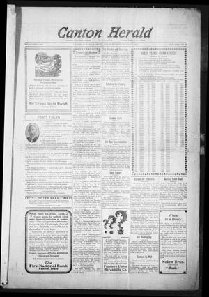 Primary view of object titled 'Canton Herald (Canton, Tex.), Vol. 31, No. 48, Ed. 1 Wednesday, May 28, 1913'.
