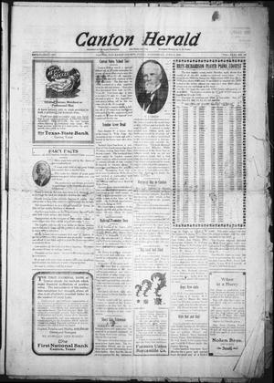 Primary view of object titled 'Canton Herald (Canton, Tex.), Vol. 31, No. 49, Ed. 1 Wednesday, June 4, 1913'.