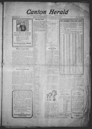 Primary view of object titled 'Canton Herald (Canton, Tex.), Vol. 32, No. 1, Ed. 1 Wednesday, July 2, 1913'.