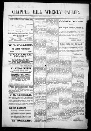 Chappell Hill Weekly Caller (Chappell Hill, Tex.), Vol. 1, No. 5, Ed. 1 Saturday, June 13, 1896