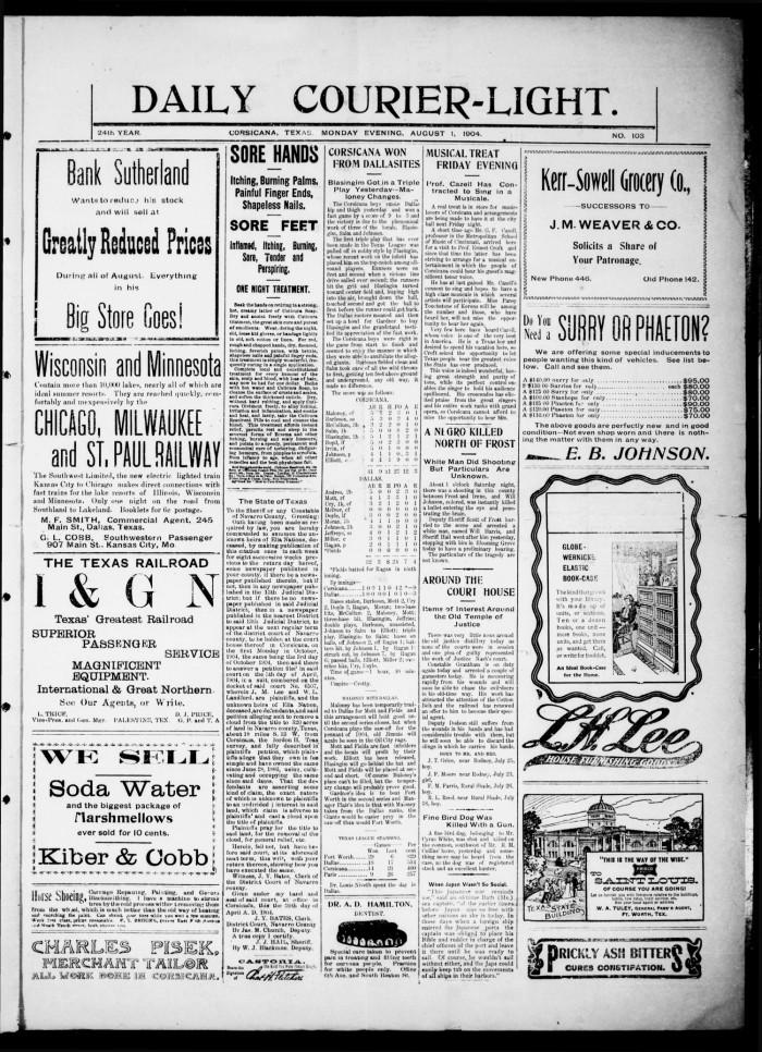 Daily Courier-Light (Corsicana, Tex ), Vol  24, No  103, Ed