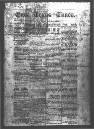 East Texas Times. (Henderson, Tex.), Vol. 2, No. 52, Ed. 1 Saturday, March 1, 1862