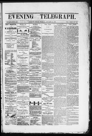 Primary view of object titled 'Evening Telegraph (Houston, Tex.), Vol. 35, No. 224, Ed. 1 Monday, January 24, 1870'.