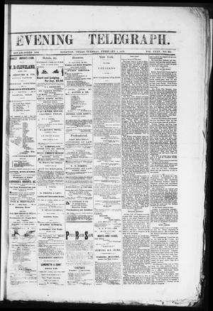 Primary view of object titled 'Evening Telegraph (Houston, Tex.), Vol. 35, No. 231, Ed. 1 Tuesday, February 1, 1870'.
