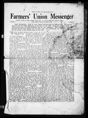 Primary view of object titled 'Farmers' Union Messenger (Fort Worth, Tex.), Vol. 2, No. 21, Ed. 1 Thursday, January 15, 1920'.