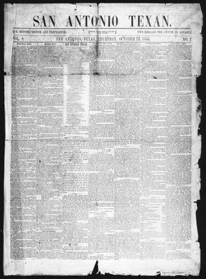 Primary view of San Antonio Texan (San Antonio, Tex.), Vol. 8, No. 2, Ed. 1 Thursday, October 25, 1855
