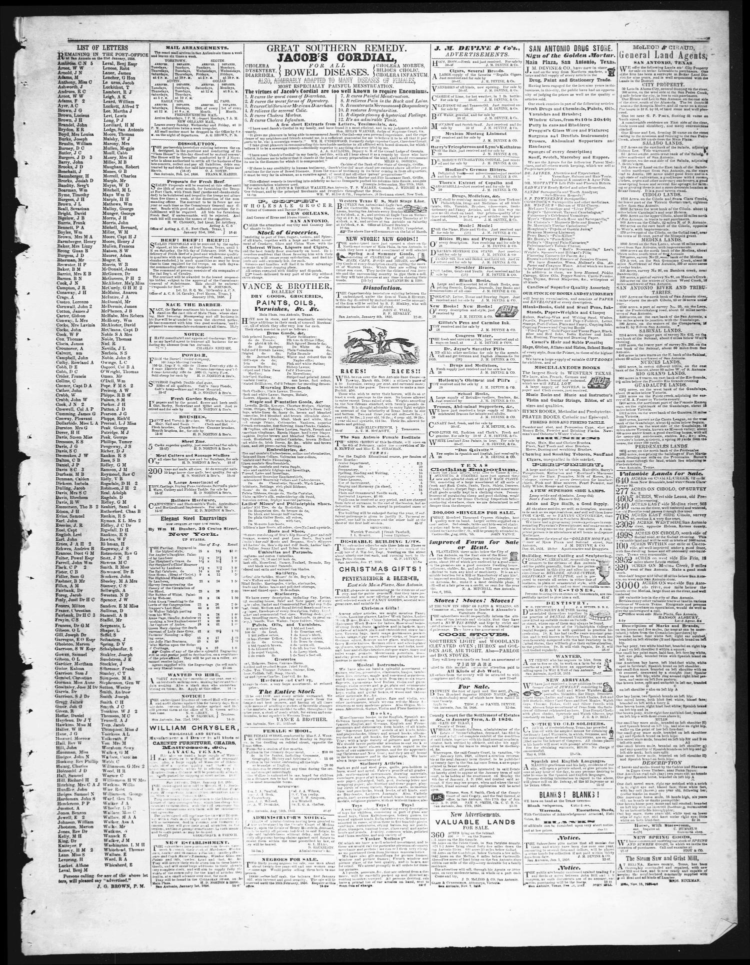 7f73033b1f1 San Antonio Texan (San Antonio, Tex.), Vol. 8, No. 16, Ed. 1 ...