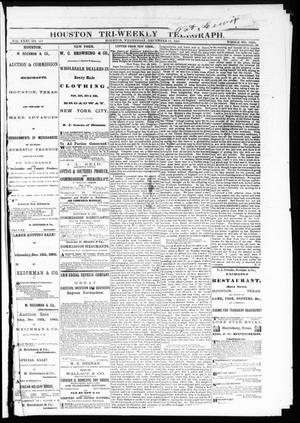 Primary view of object titled 'Houston Tri-Weekly Telegraph (Houston, Tex.), Vol. 31, No. 121, Ed. 1 Wednesday, December 13, 1865'.