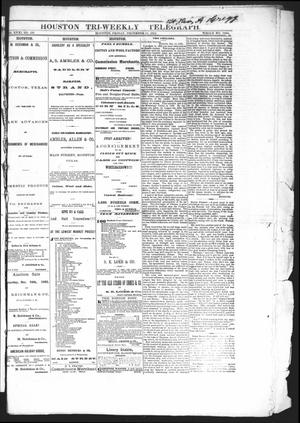 Primary view of object titled 'Houston Tri-Weekly Telegraph (Houston, Tex.), Vol. 31, No. 122, Ed. 1 Friday, December 15, 1865'.
