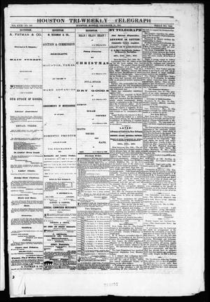 Primary view of object titled 'Houston Tri-Weekly Telegraph (Houston, Tex.), Vol. 31, No. 123, Ed. 1 Monday, December 18, 1865'.