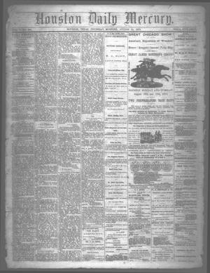 Primary view of object titled 'Houston Daily Mercury (Houston, Tex.), Vol. 5, No. 292, Ed. 1 Thursday, August 14, 1873'.