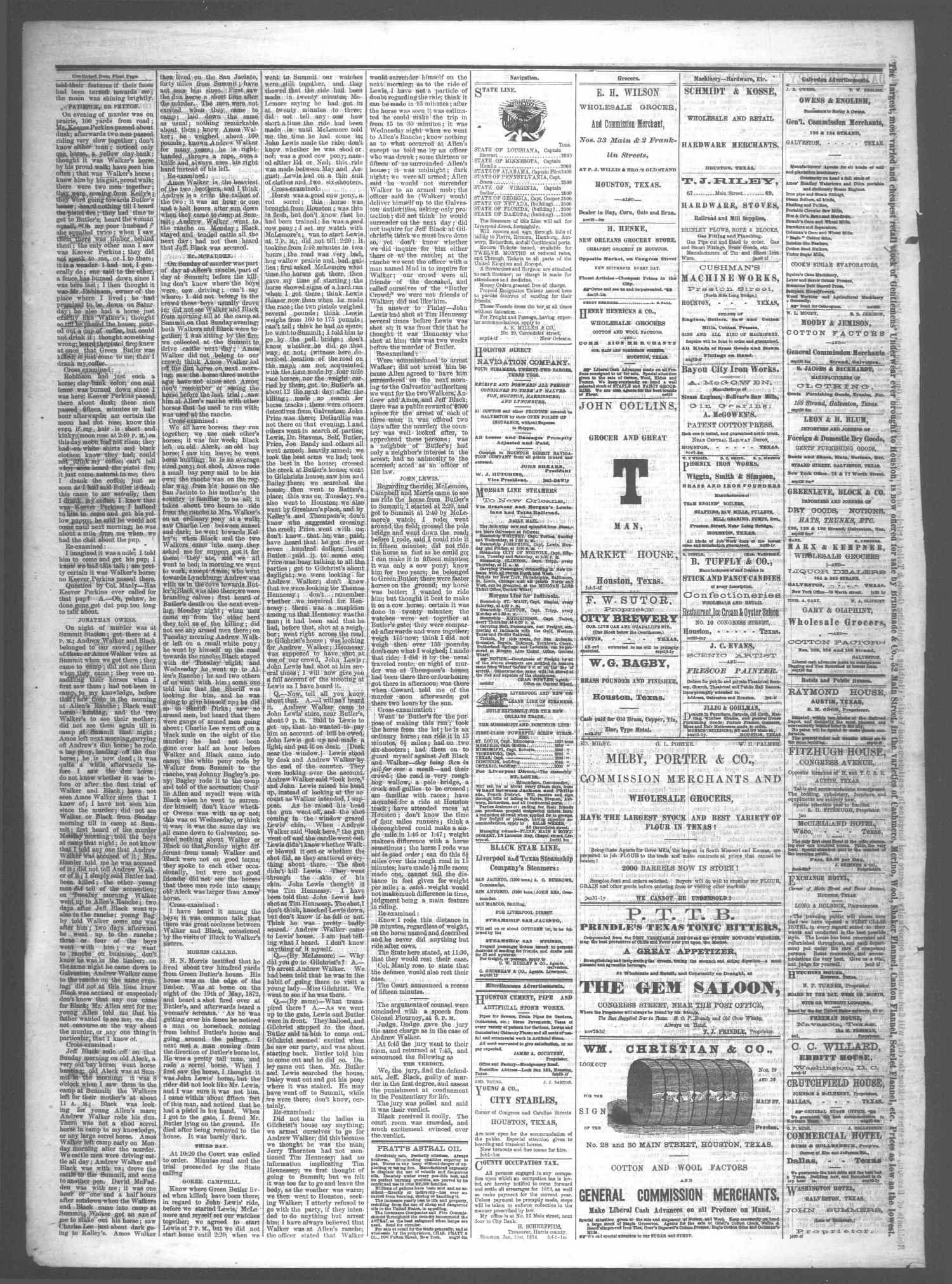 The Daily Mercury (Houston, Tex.), Vol. 6, No. 136, Ed. 1 Sunday, February 15, 1874                                                                                                      [Sequence #]: 4 of 4