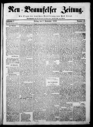 Neu-Braunfelser Zeitung (New Braunfels, Tex.), Vol. 1, No. 42, Ed. 1 Friday, September 2, 1853