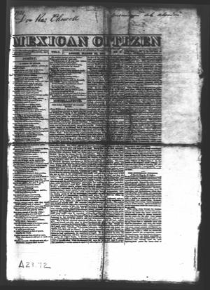 Primary view of object titled 'Mexican Citizen (Austin, Tex.), Vol. 1, No. 6, Ed. 1 Thursday, March 24, 1831'.