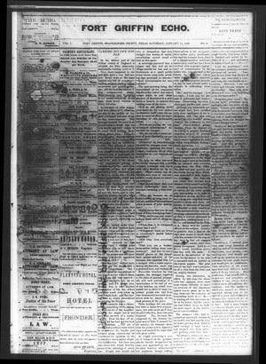 Fort Griffin Echo (Fort Griffin, Tex.), Vol. 1, No. 2, Ed. 1 Saturday, January 11, 1879