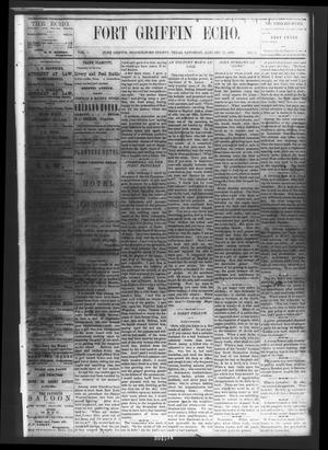 Fort Griffin Echo (Fort Griffin, Tex.), Vol. 1, No. 4, Ed. 1 Saturday, January 25, 1879