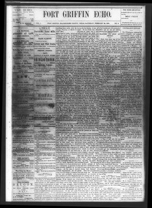 Fort Griffin Echo (Fort Griffin, Tex.), Vol. 1, No. 8, Ed. 1 Saturday, February 22, 1879