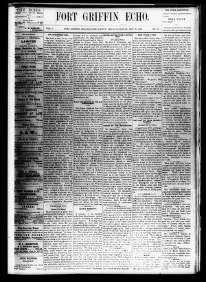 Fort Griffin Echo (Fort Griffin, Tex.), Vol. 1, No. 22, Ed. 1 Saturday, May 31, 1879