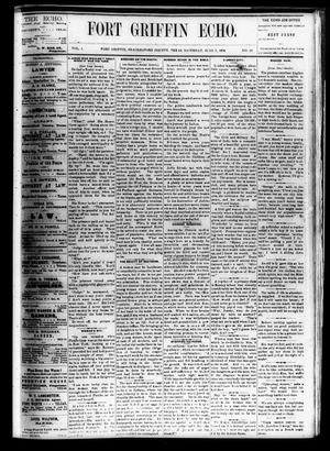 Fort Griffin Echo (Fort Griffin, Tex.), Vol. 1, No. 23, Ed. 1 Saturday, June 7, 1879