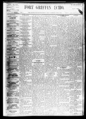 Fort Griffin Echo (Fort Griffin, Tex.), Vol. 1, No. 25, Ed. 1 Saturday, June 21, 1879