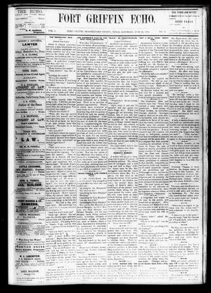Fort Griffin Echo (Fort Griffin, Tex.), Vol. 1, No. 26, Ed. 1 Saturday, June 28, 1879
