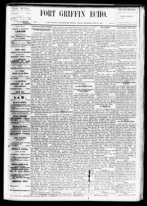 Fort Griffin Echo (Fort Griffin, Tex.), Vol. 1, No. 30, Ed. 1 Saturday, July 26, 1879