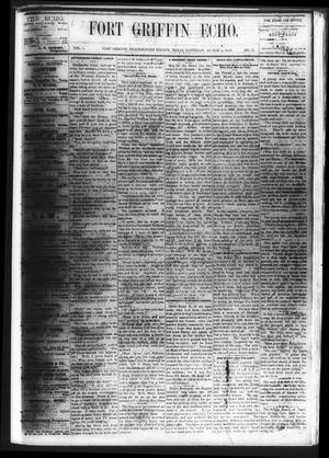 Fort Griffin Echo (Fort Griffin, Tex.), Vol. 1, No. 31, Ed. 1 Saturday, August 2, 1879