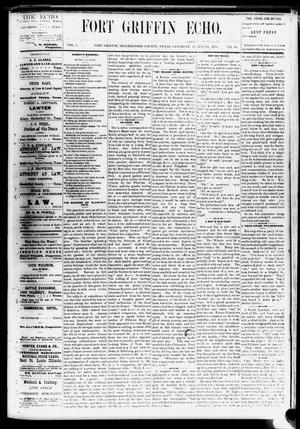 Fort Griffin Echo (Fort Griffin, Tex.), Vol. 1, No. 34, Ed. 1 Saturday, August 23, 1879