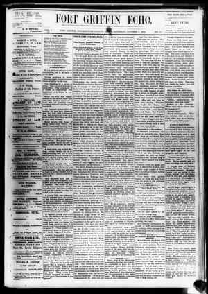 Fort Griffin Echo (Fort Griffin, Tex.), Vol. 1, No. 40, Ed. 1 Saturday, October 4, 1879