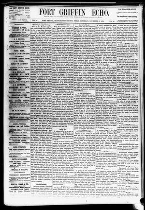 Fort Griffin Echo (Fort Griffin, Tex.), Vol. 1, No. 45, Ed. 1 Saturday, November 8, 1879